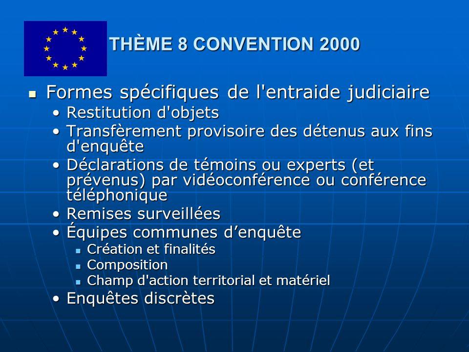Formes spécifiques de l entraide judiciaire