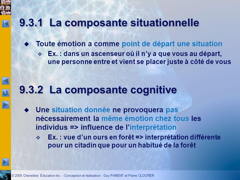 9.3.1 La composante situationnelle