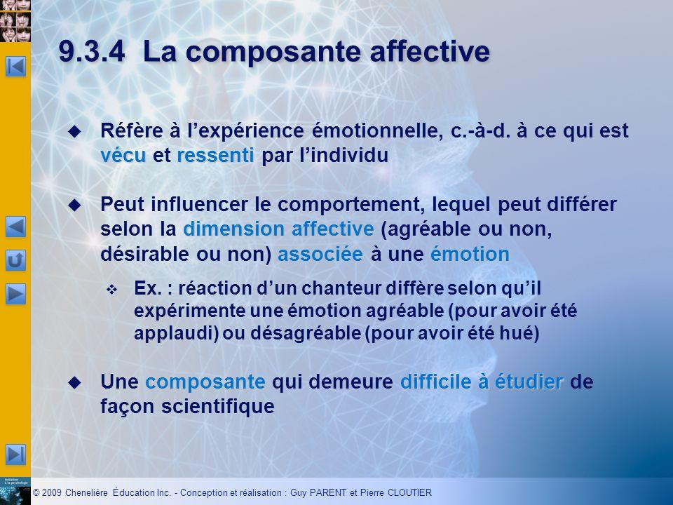 9.3.4 La composante affective