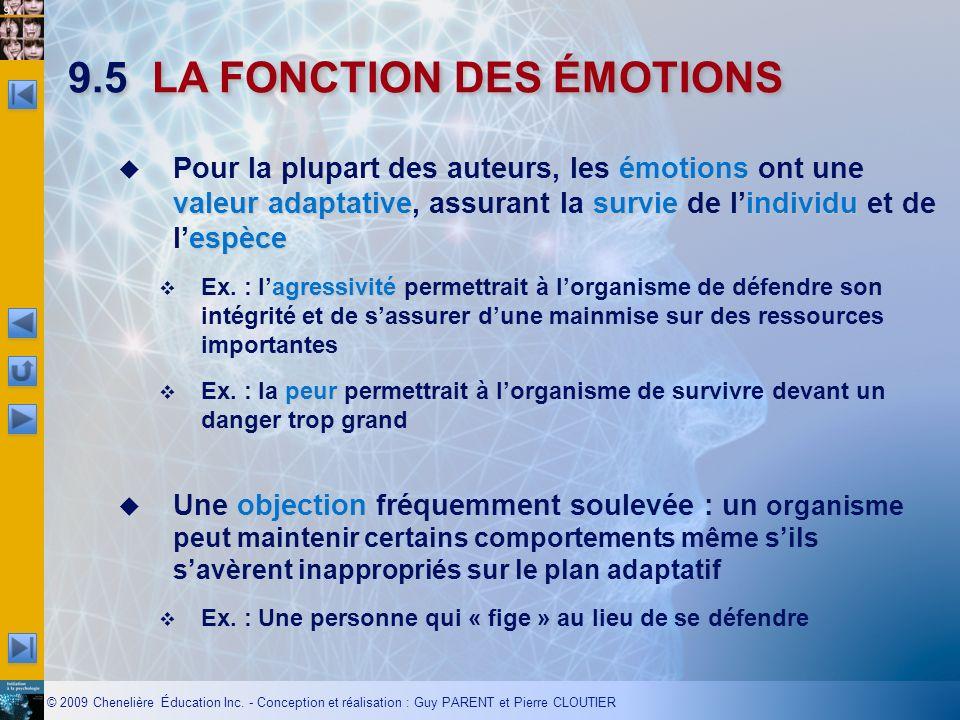 9.5 LA FONCTION DES ÉMOTIONS