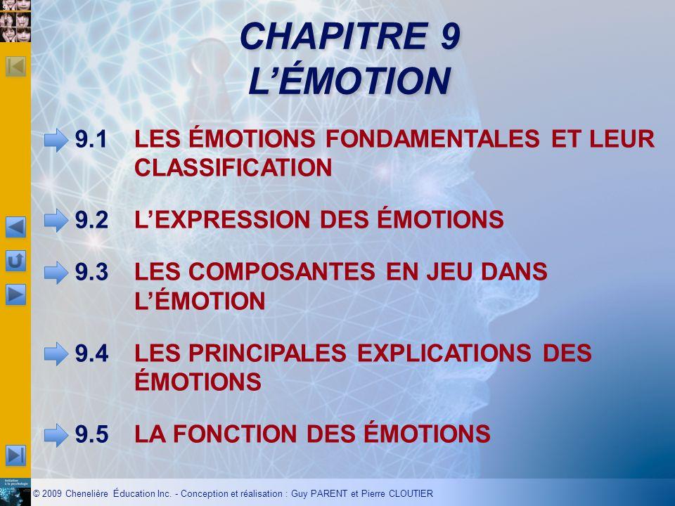 CHAPITRE 9 L'ÉMOTION