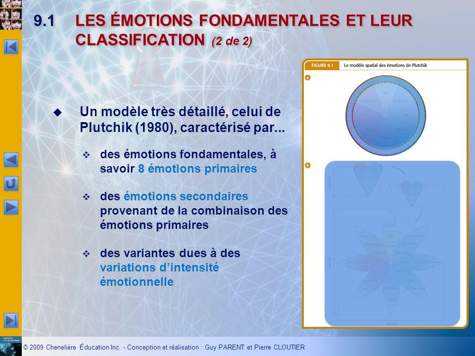 9.1 LES ÉMOTIONS FONDAMENTALES ET LEUR CLASSIFICATION (2 de 2)