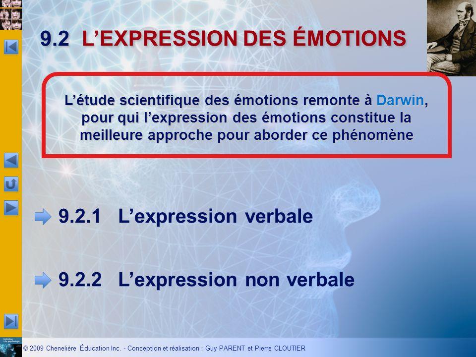 9.2 L'EXPRESSION DES ÉMOTIONS