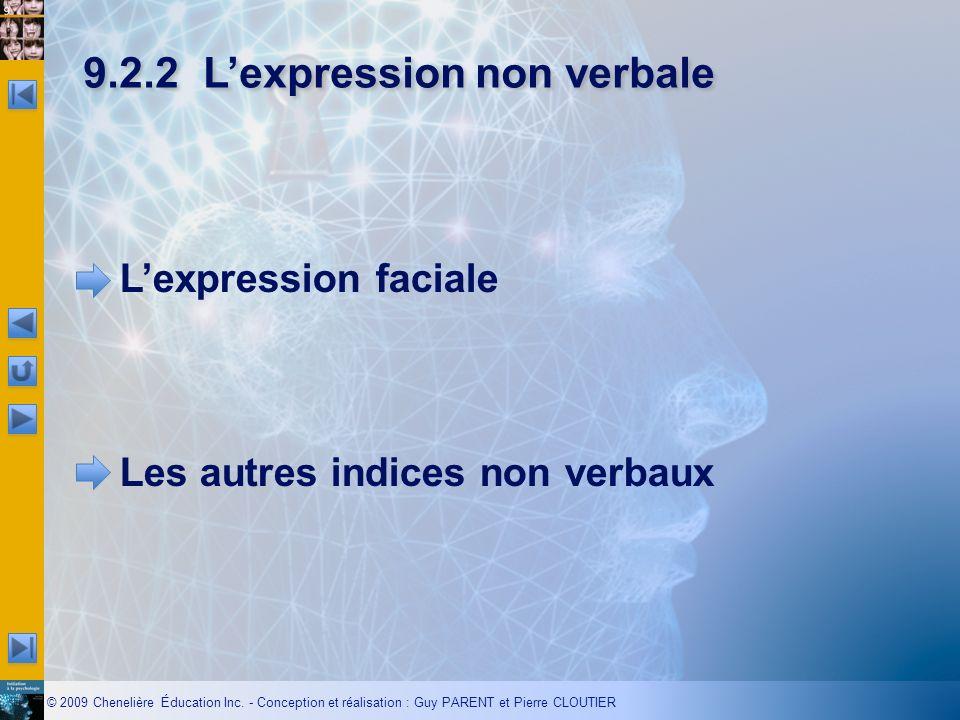 9.2.2 L'expression non verbale