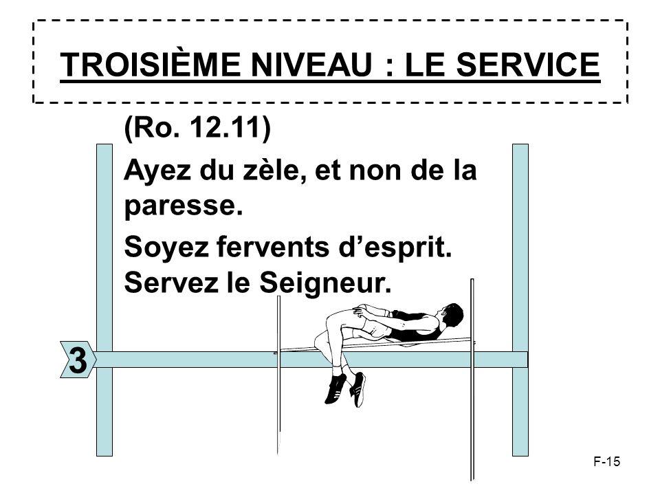 TROISIÈME NIVEAU : LE SERVICE