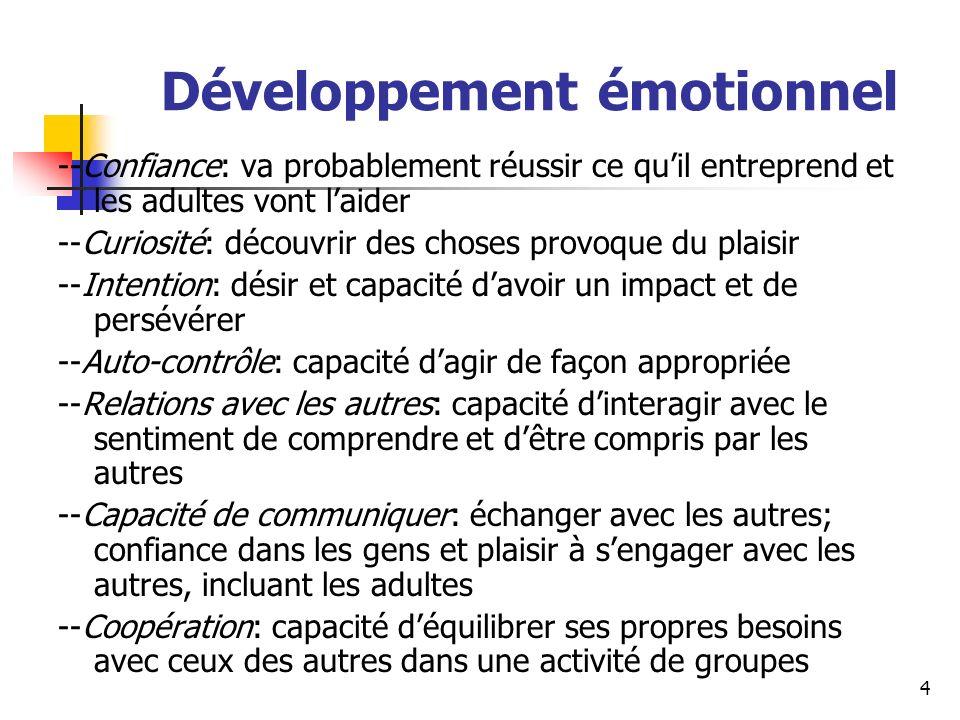 Développement émotionnel