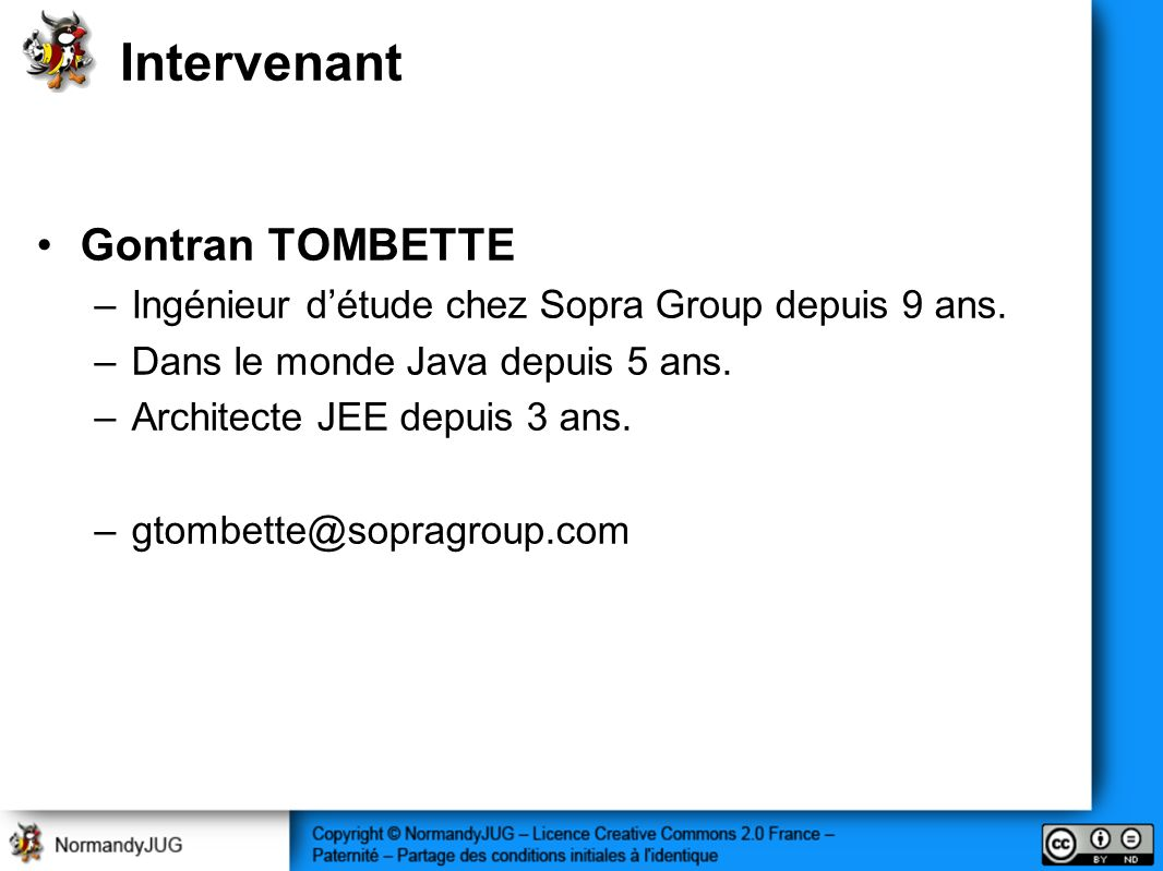 Intervenant Gontran TOMBETTE