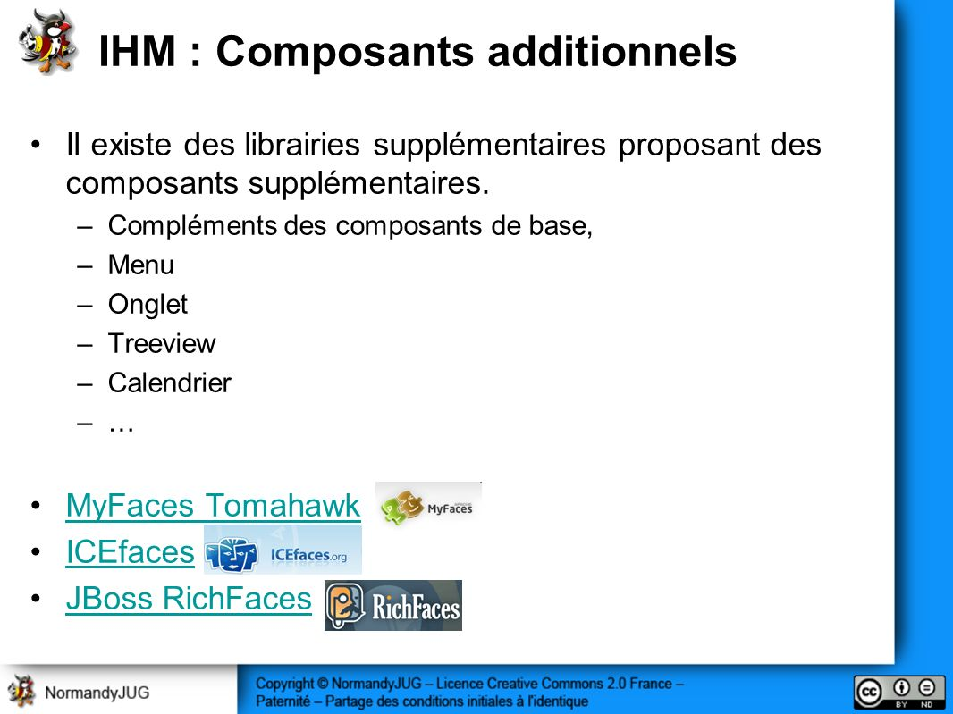 IHM : Composants additionnels