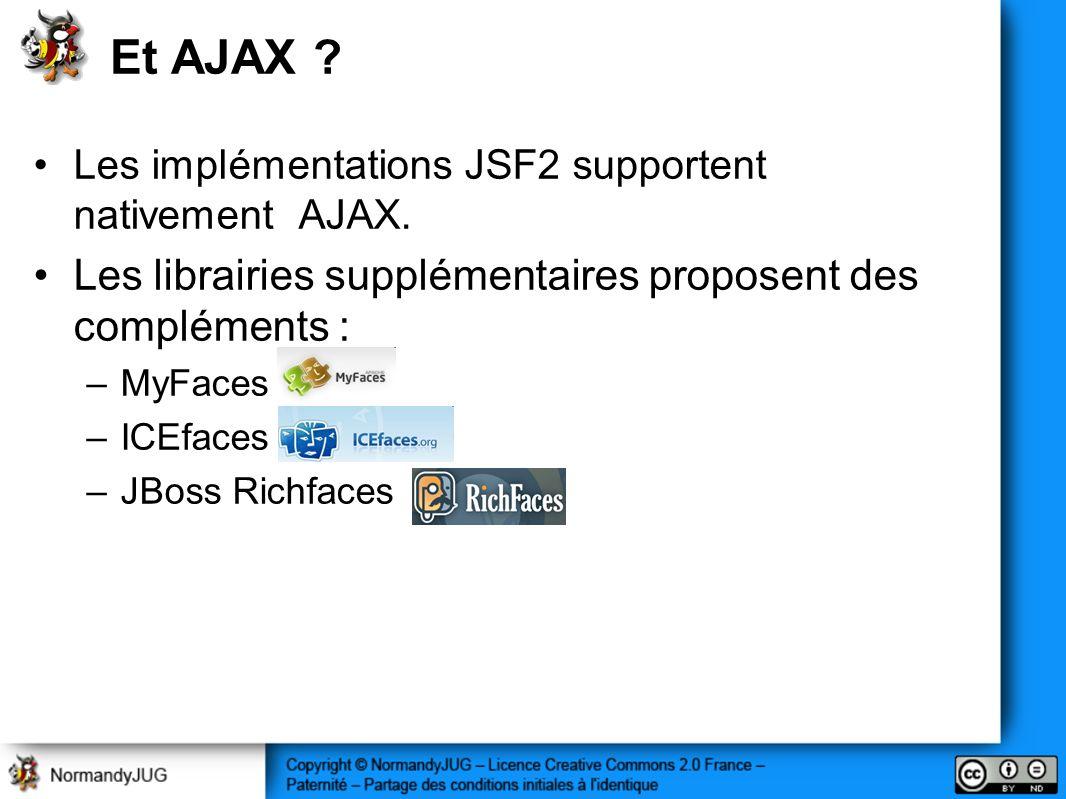 Et AJAX Les librairies supplémentaires proposent des compléments :