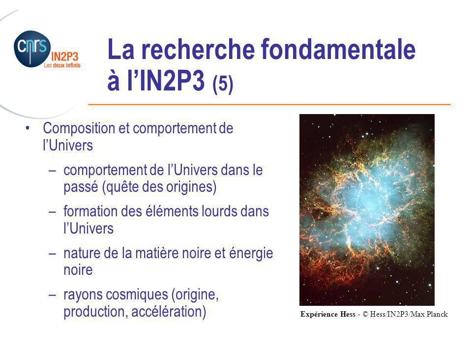 La recherche fondamentale à l'IN2P3 (5)