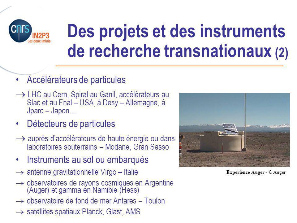 Des projets et des instruments de recherche transnationaux (2)