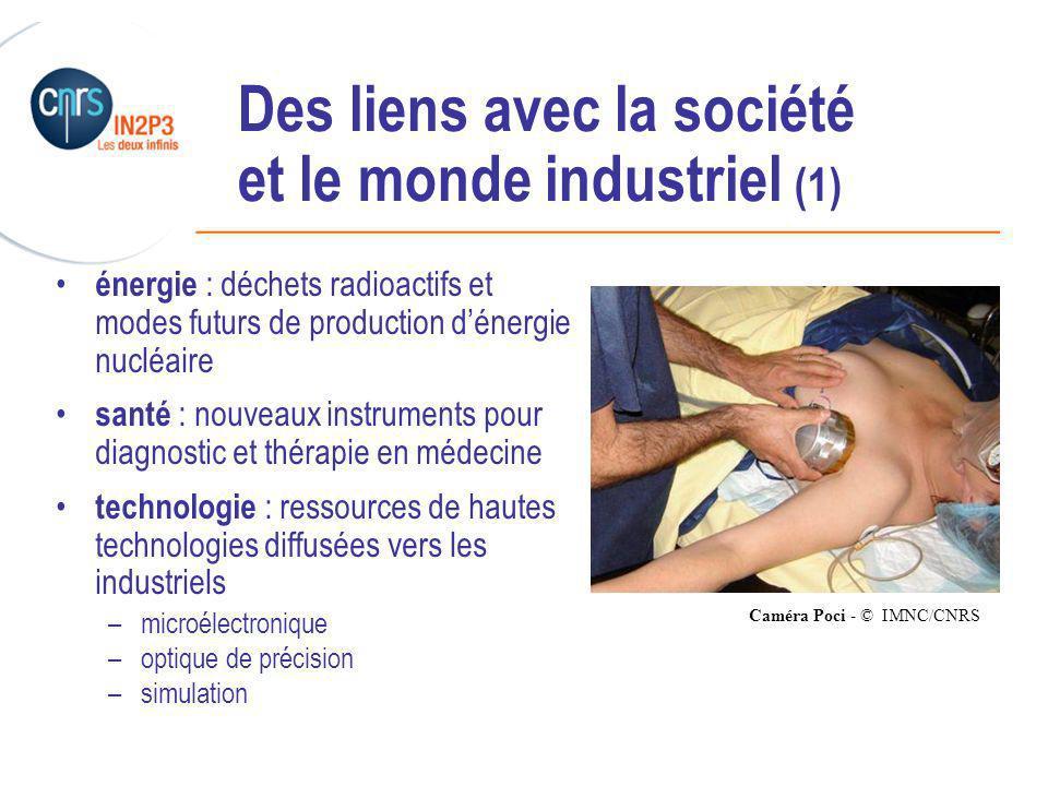 Des liens avec la société et le monde industriel (1)