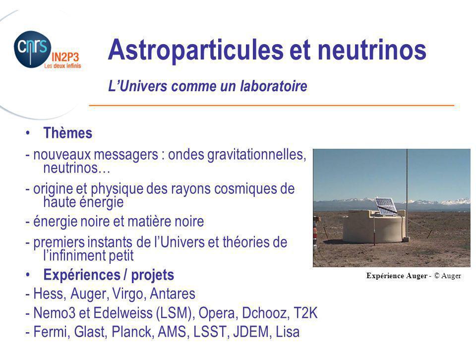 Astroparticules et neutrinos L'Univers comme un laboratoire