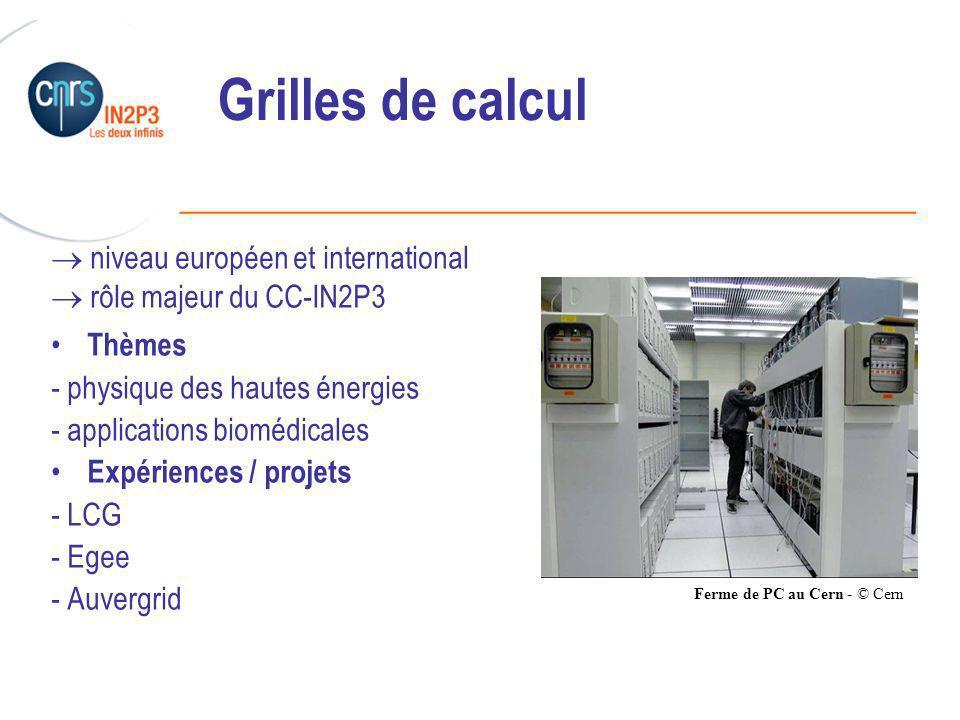 Grilles de calcul  niveau européen et international