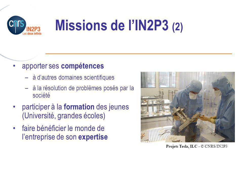 Missions de l'IN2P3 (2) apporter ses compétences