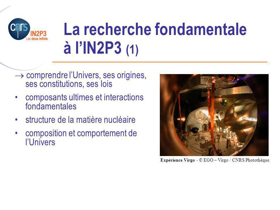 La recherche fondamentale à l'IN2P3 (1)