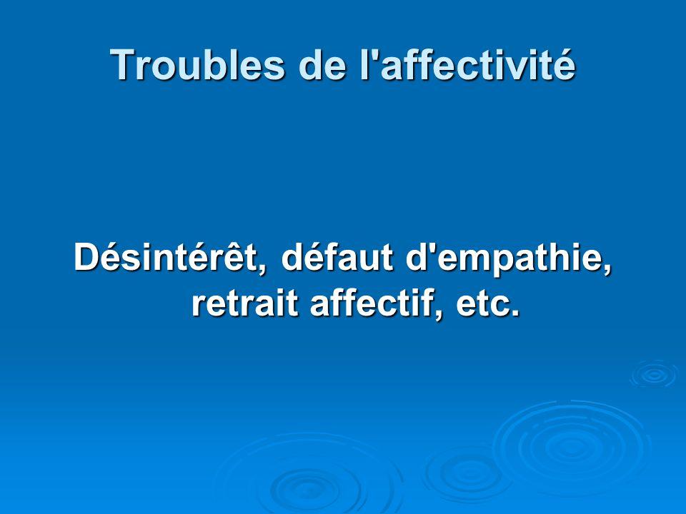 Troubles de l affectivité