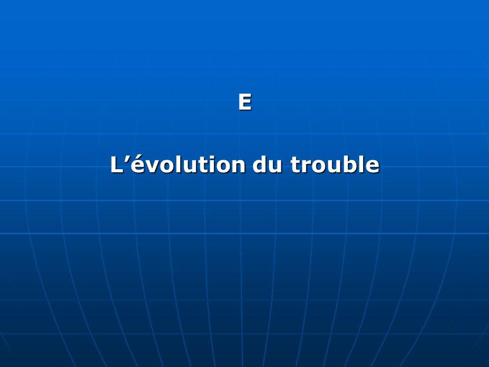 L'évolution du trouble