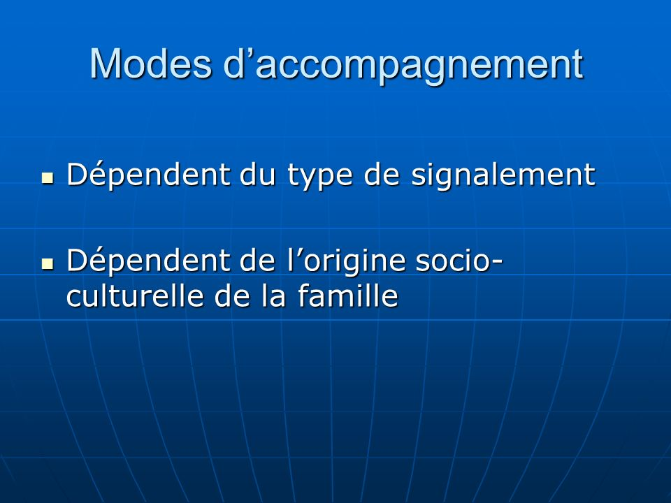 Modes d'accompagnement