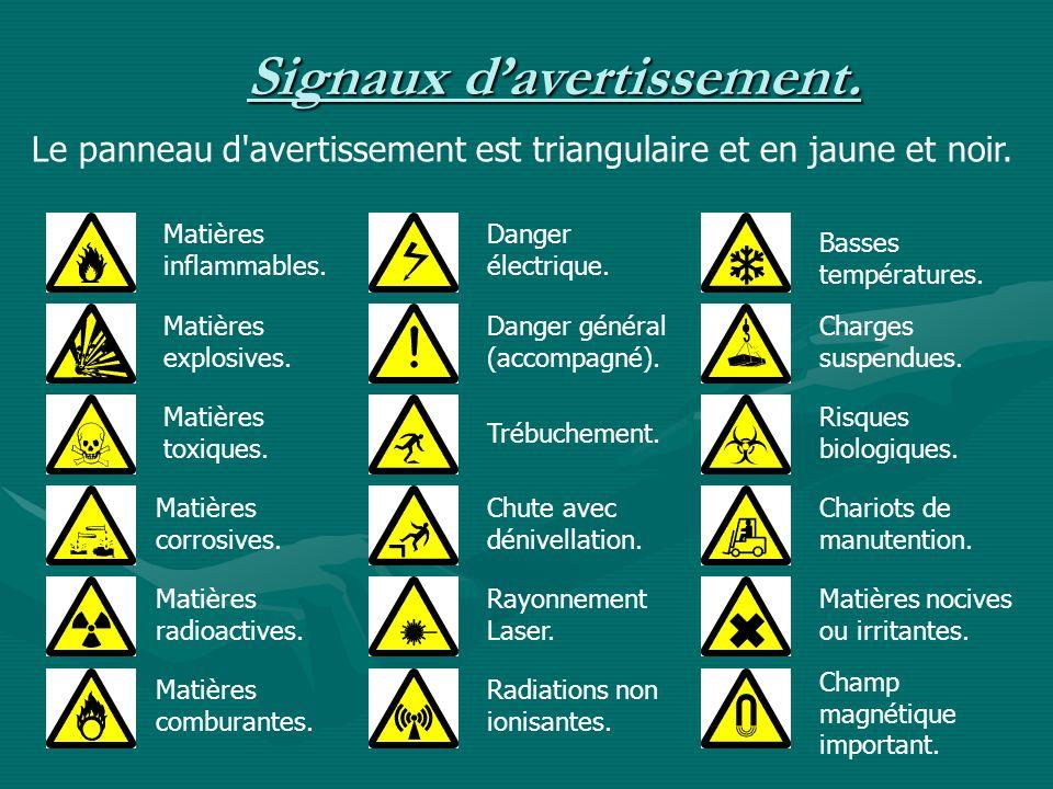 Signaux d'avertissement.