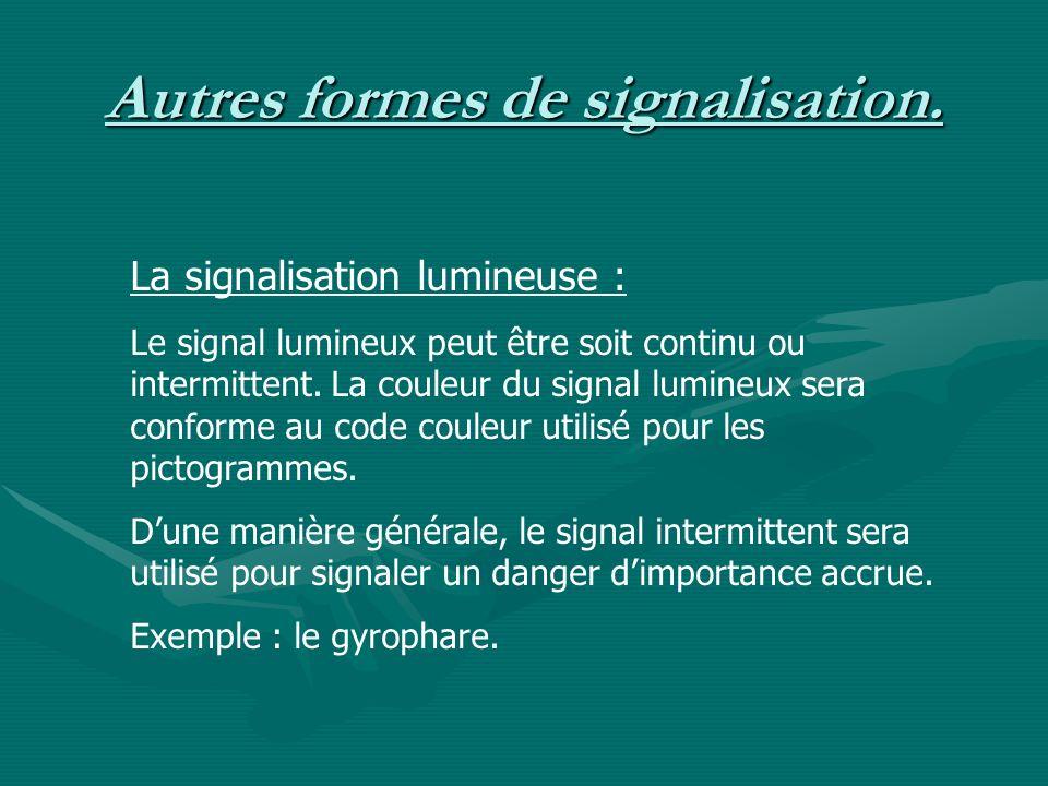 Autres formes de signalisation.