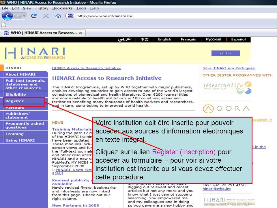 Registration 1 Votre institution doit être inscrite pour pouvoir accéder aux sources d'information électroniques en texte intégral.