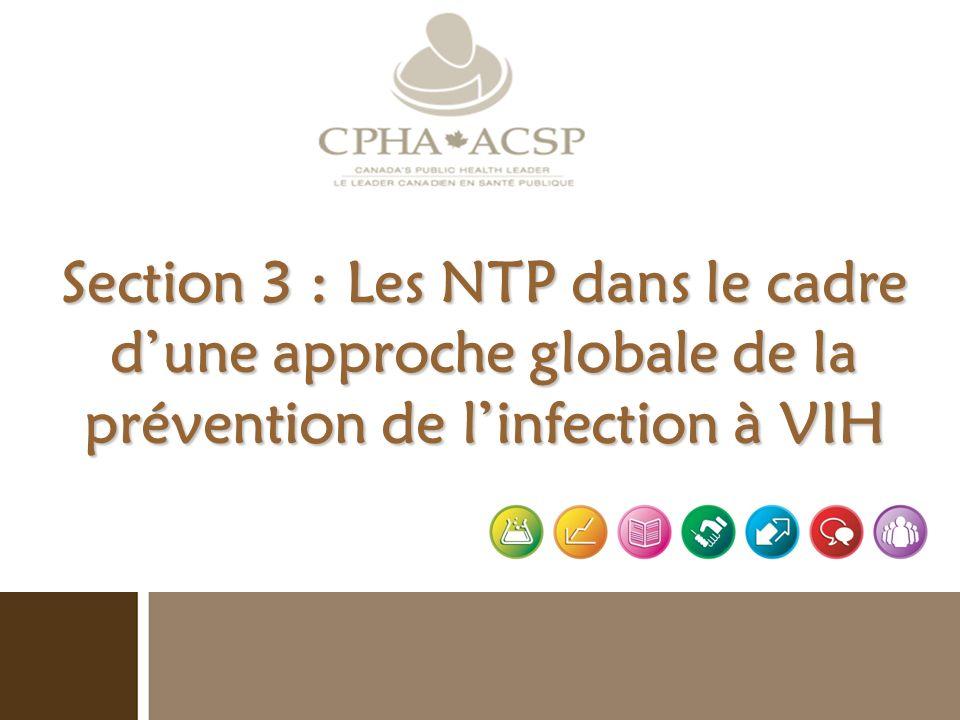 Section 3 : Les NTP dans le cadre d'une approche globale de la prévention de l'infection à VIH