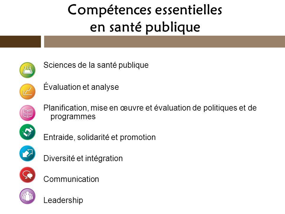 Compétences essentielles en santé publique