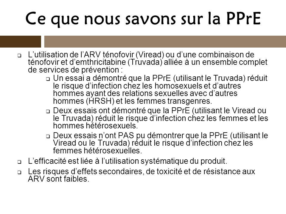 Ce que nous savons sur la PPrE
