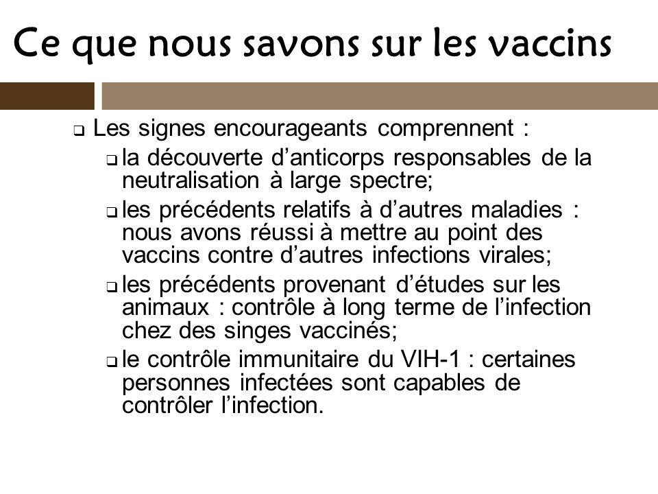 Ce que nous savons sur les vaccins