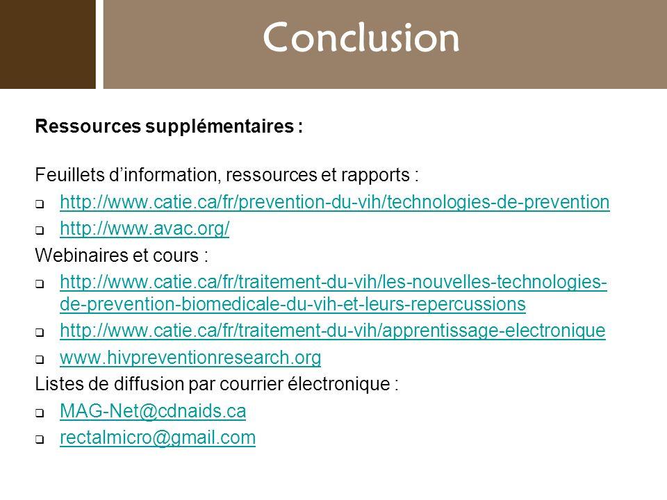 Conclusion Introduction Ressources supplémentaires :