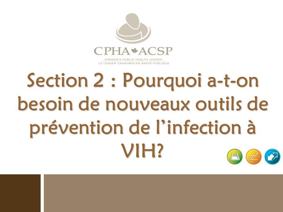Section 2 : Pourquoi a-t-on besoin de nouveaux outils de prévention de l'infection à VIH