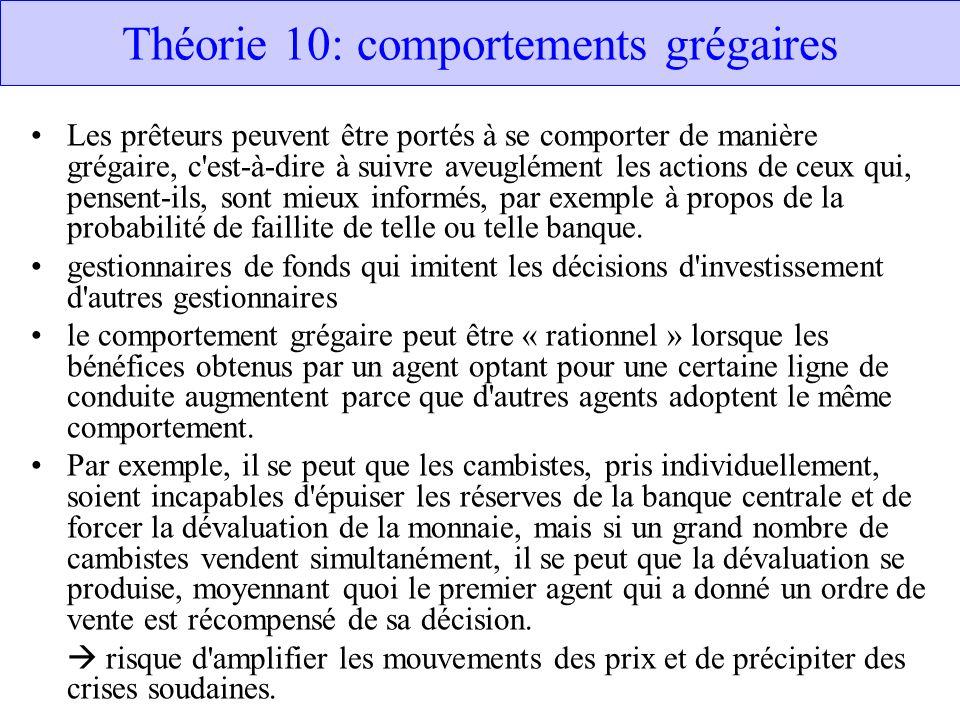 Théorie 10: comportements grégaires