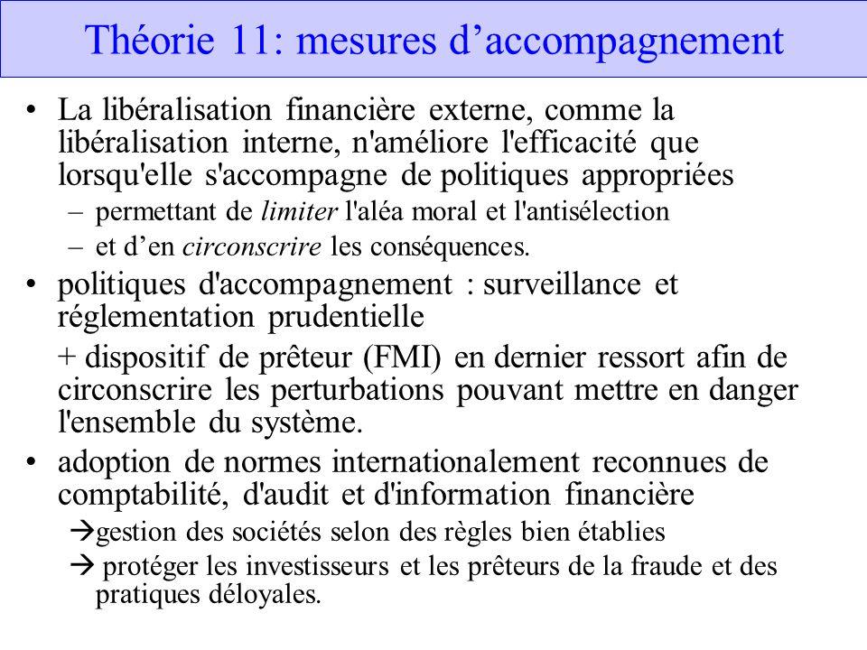 Théorie 11: mesures d'accompagnement