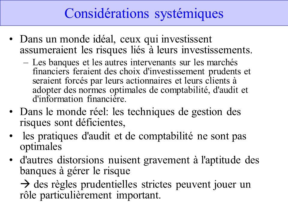 Considérations systémiques