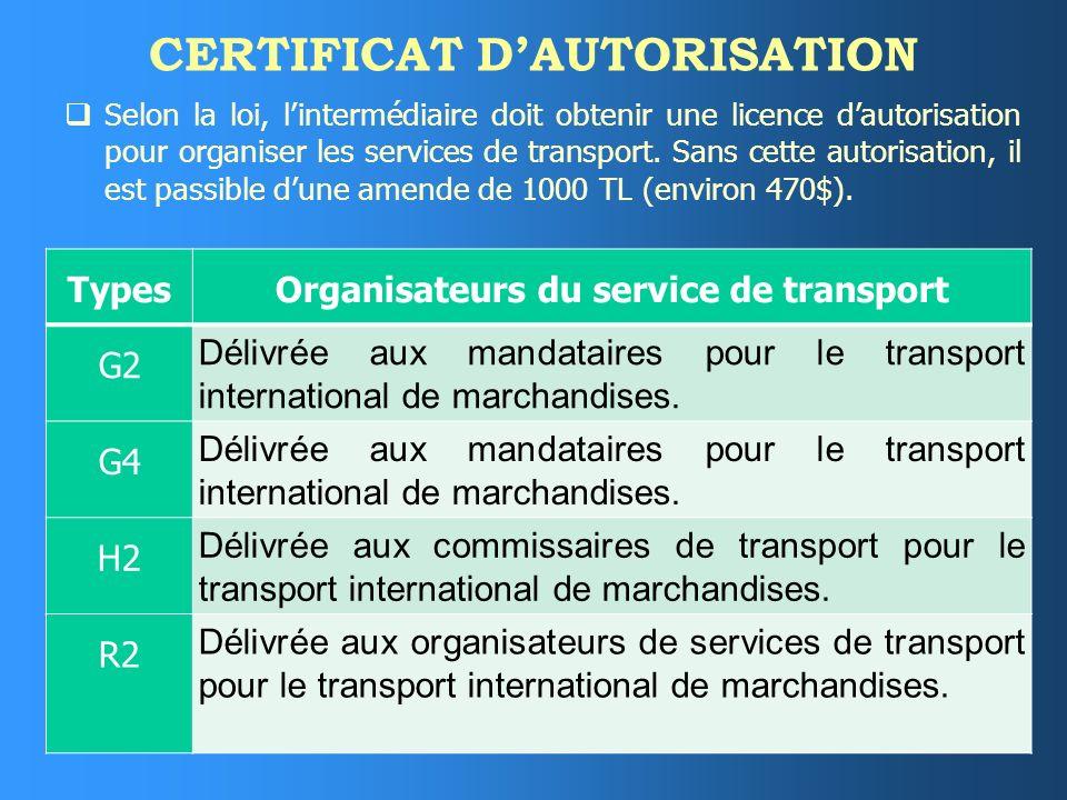 CERTIFICAT D'AUTORISATION