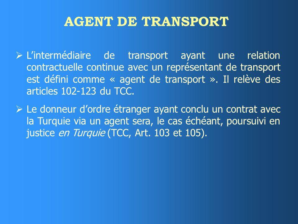 AGENT DE TRANSPORT