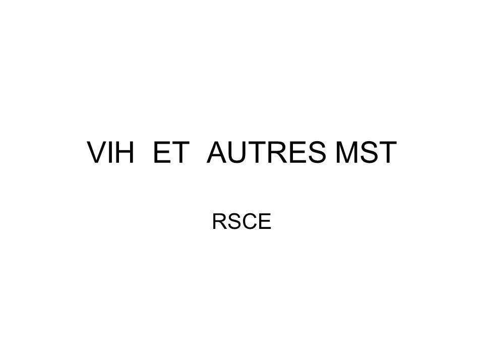 VIH ET AUTRES MST RSCE
