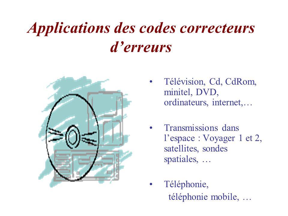 Applications des codes correcteurs d'erreurs