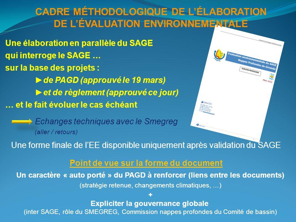 CADRE MÉTHODOLOGIQUE DE L'ÉLABORATION DE L'ÉVALUATION ENVIRONNEMENTALE