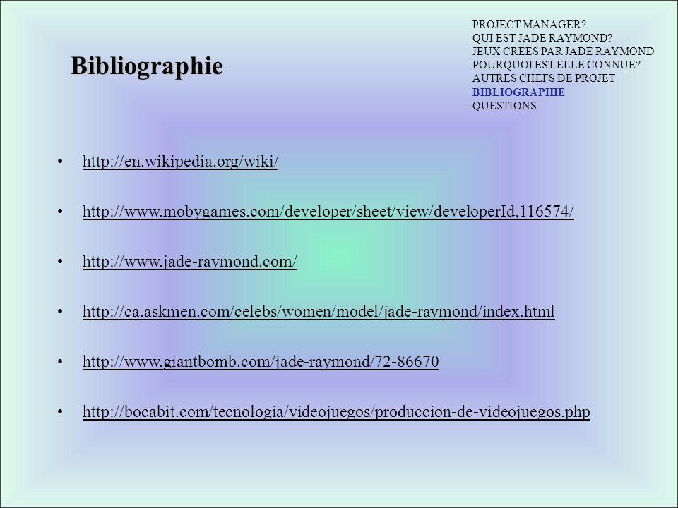 Bibliographie http://en.wikipedia.org/wiki/