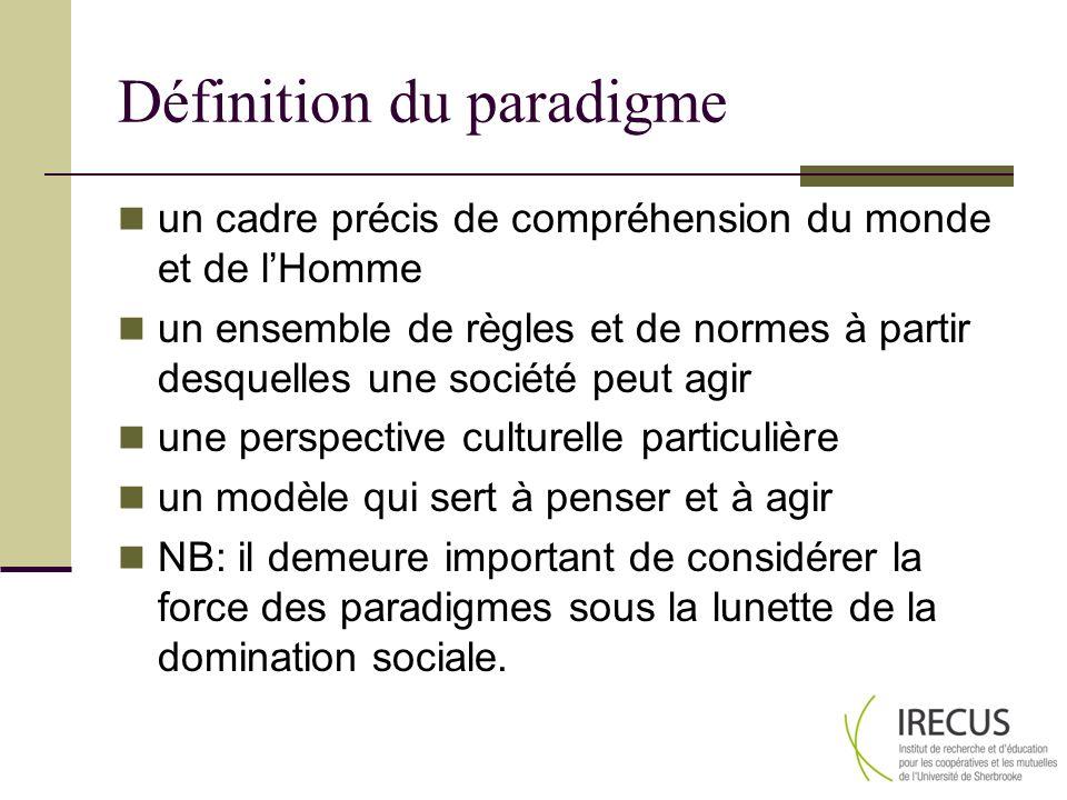 Définition du paradigme