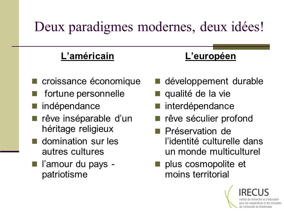 Deux paradigmes modernes, deux idées!