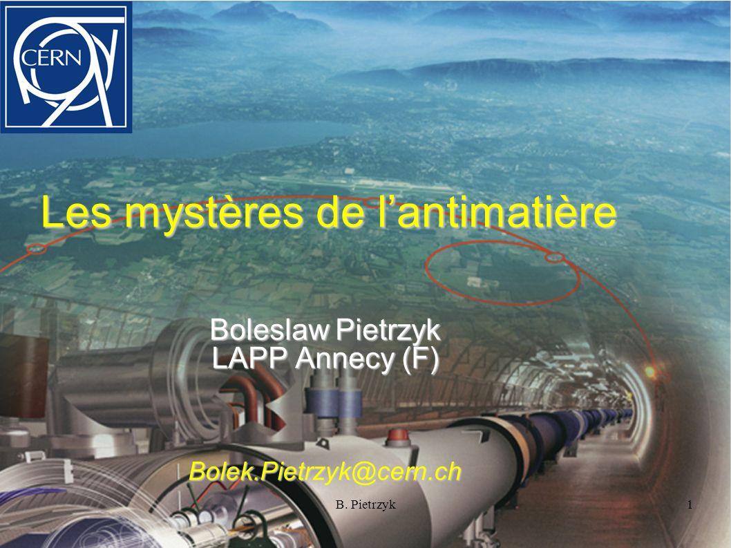 Les mystères de l'antimatière