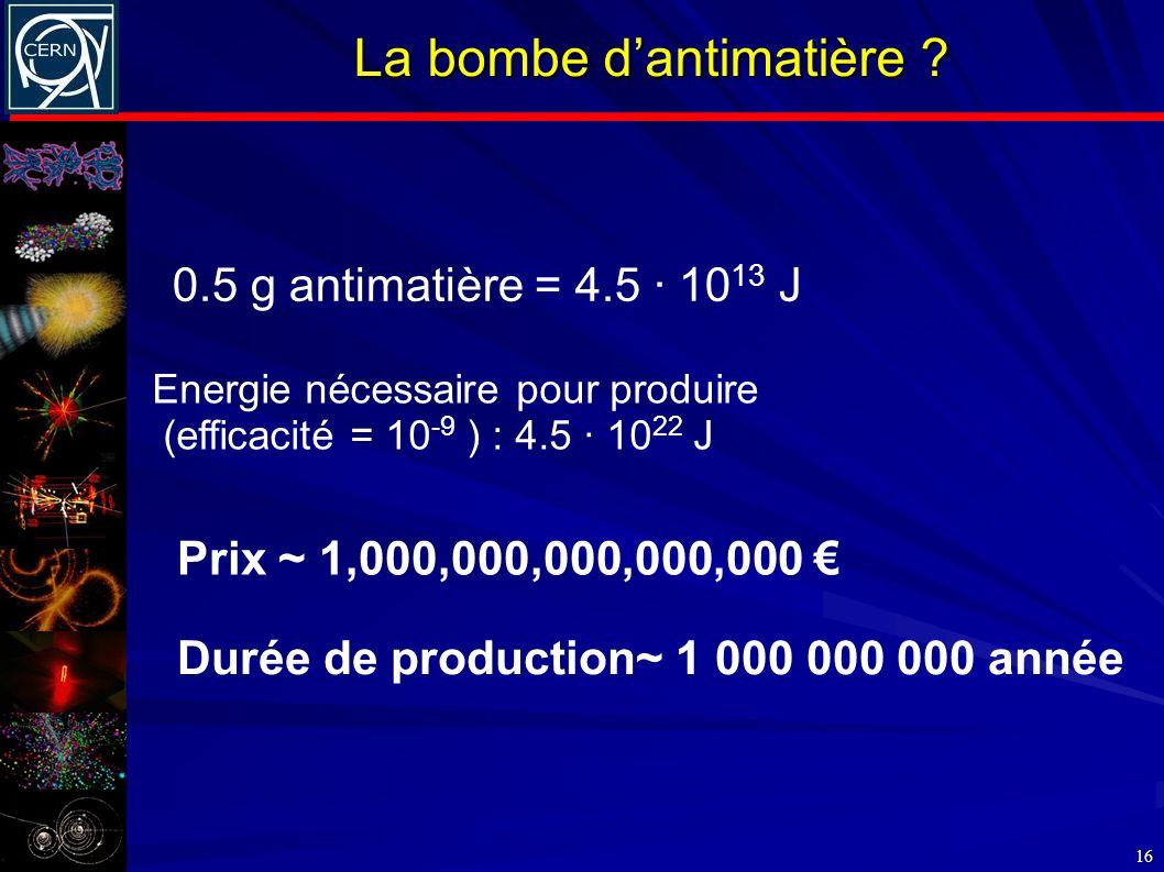 La bombe d'antimatière