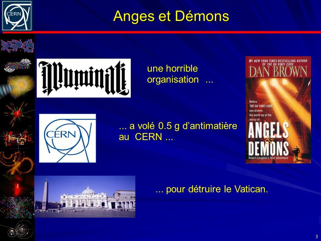 Anges et Démons une horrible organisation ...