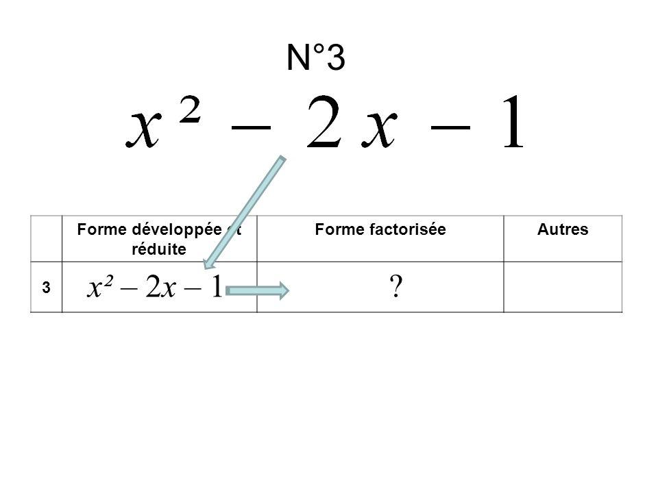 Forme développée et réduite