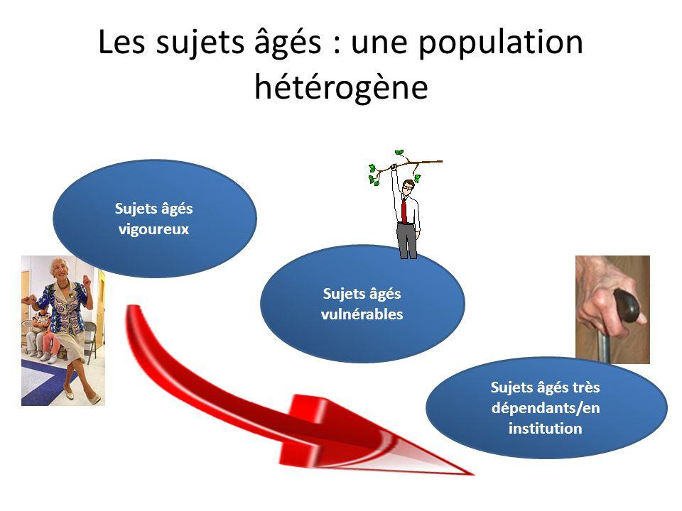 Les sujets âgés : une population hétérogène