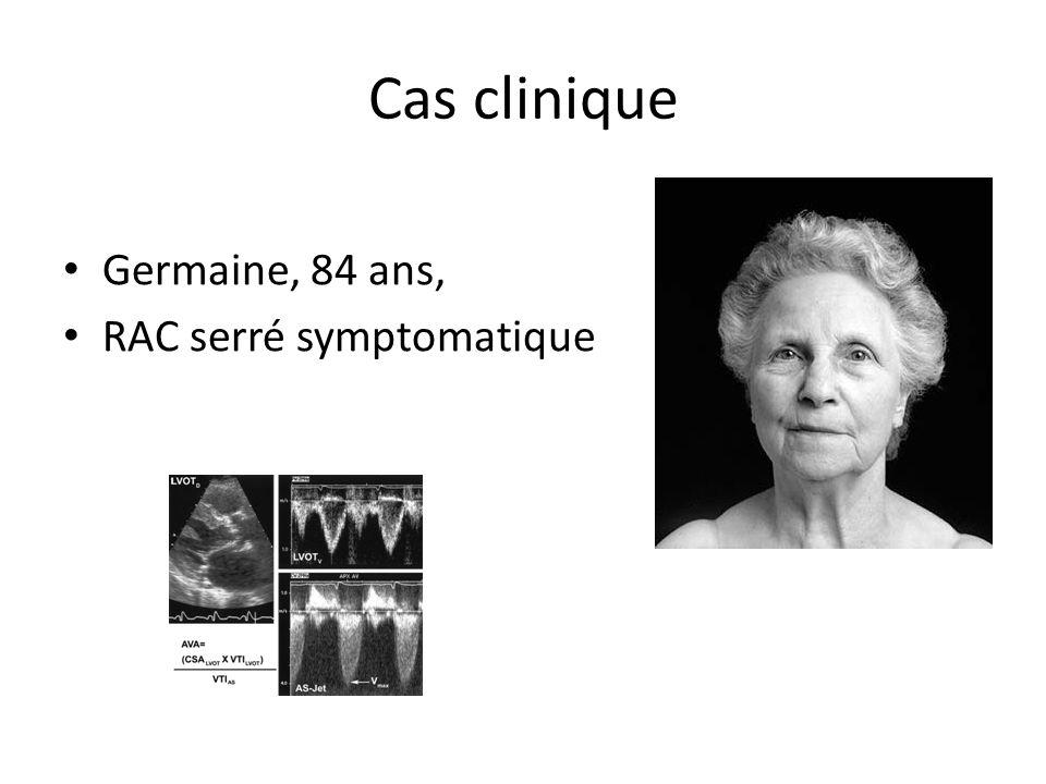 Cas clinique Germaine, 84 ans, RAC serré symptomatique