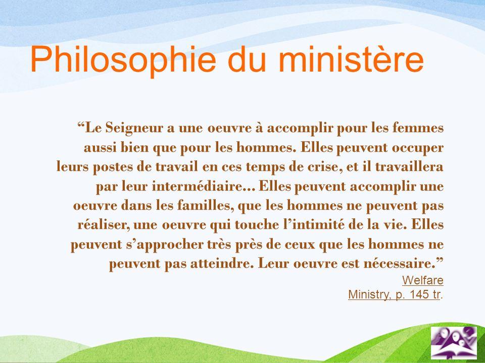 Philosophie du ministère